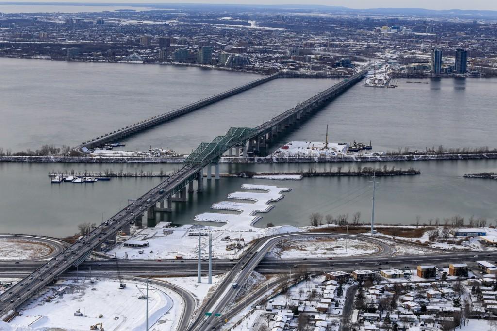 Vue globale hiver 2016 nouveau pont champlain for Photos du plan de construction