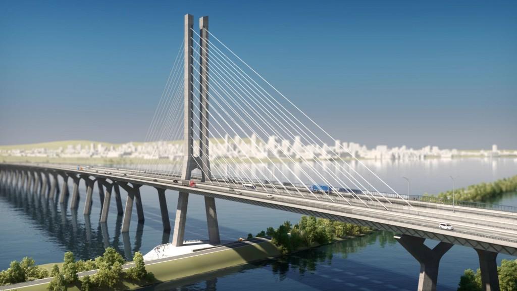 Rendu 3D du nouveau pont Champlain
