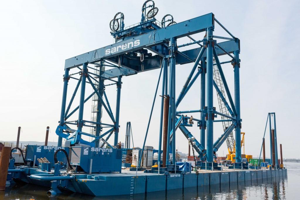 Catamaran industriel SARENS - 13 mai 2016 - nouveau pont Champlain