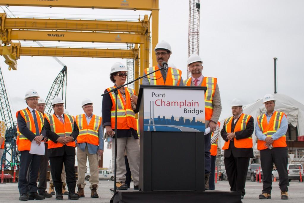 Visite 8juillet 2016 - Un an de chantier nouveau pont Champlain - Amarjeet Sohi